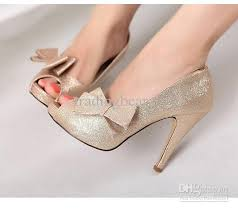 wedding shoes glitter 2012 glitter wedding shoes pink gold detachable bow peep