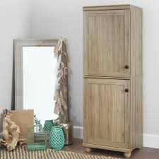 south shore storage cabinet south shore hopedale rustic oak 2 door narrow storage cabinet 10317