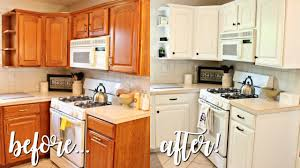 oak kitchen cabinets pictures how i transformed my kitchen 100 outdated oak to bright white