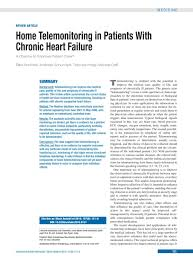 home telemonitoring in patients with chronic heart failure 26 02