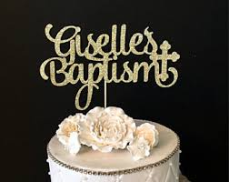 baptism cake toppers personalized god bless cake topper baptism cake topper
