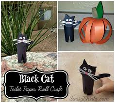 easy black cat toilet paper roll craft for kids crafty morning