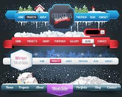 christmas website menu navigation vector free vector graphic