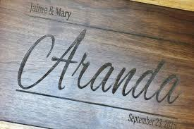 Personalized Pictures With Names Personalized Wooden Cutting Board Engraved With Name And Date In