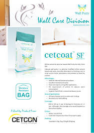 wall putty cetcon wall care