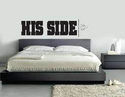 Bedroom Wall Decals Etsy His Side Her Side Wall Decal Master Bedroom Living Room