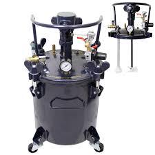 5 gallon pressure feed paint pot tank spray gun sprayer regulator