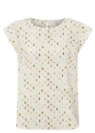 joie rancher b bumblebee print silk top in white lyst