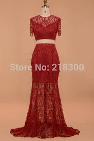 aliexpress com buy crop top burgundy lace prom dresses short