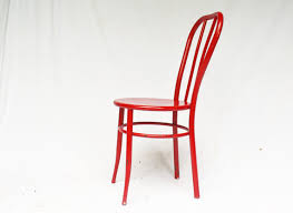 Red Metal Chair Red Retro Chairs With Red Metal Chair Vintage Ice Cream Parlor