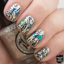 new year sparkles nail art by marisa cavanaugh nailpolis museum