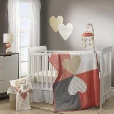 Gold Crib Bedding by Lambs U0026 Ivy Dawn Coral Gold Heart 3 Piece Crib Bedding Set Toys