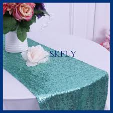 Sequin Table Runner Wholesale Ru009c Cheap Wholesale Custom Made Glitter Metalic Sequence Mint