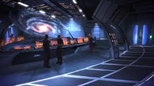 mass effect 2 normandy spaceship interior background white