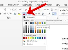 Change Table Color How To Change The Font Color In A Word 2013 Table Solve Your Tech