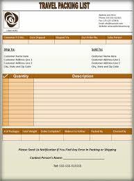 3 printable travel packing list templates u2013 word pdf formats