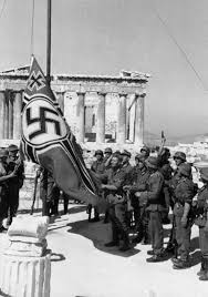 German Flag In Ww2 German Troops Raising The Swastika Over The Acropolis 1941
