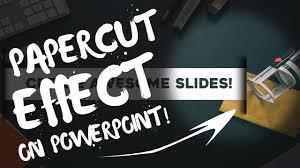 tutorial powerpoint design paper cut effect professional powerpoint slide design powerpoint