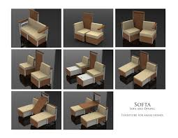 breakfast table for two furniture inspiring creative transformable furniture called softa