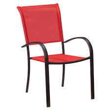 red patio dining sets hampton bay mix and match stackable sling outdoor dining chair in