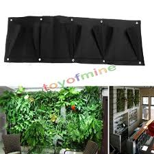 wall mounted herb garden indoor outdoor wall balcony herbs garden hanging planter bag plant