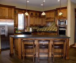 Farmhouse Style Kitchen Islands by Stunning Mission Kitchen Style With L Shape Stone Kitchen Island