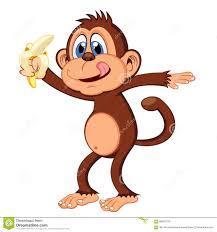 cute halloween background monkey monkey eat banana cartoon stock vector image 58957233