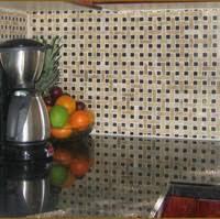 Peel Tile Backsplash - Basket weave tile backsplash