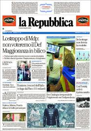 l amaca repubblica newspaper la repubblica italy newspapers in italy wednesday s