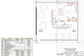 plan de cuisine professionnelle plans 2d et 3d cuisine pro 64 côte basque