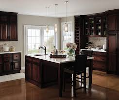 light cherry cabinets in a casual kitchen by kemper cabinetry