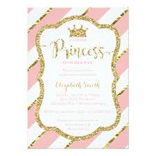princess baby shower princess baby shower invite faux glitter card zazzle