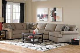 Right Furniture Broyhill Furniture Ethan Transitional Sectional Sofa With Right