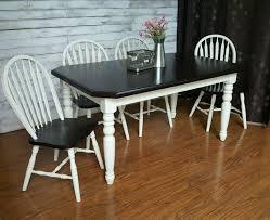 Antique White Laminate Flooring Farmhouse Table Set In Antique White U0026 Java General Finishes