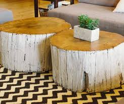 Tree Stump Nightstand Outstanding Tree Stump Decorations To Add Rustic Touch In The Home