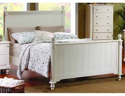 pottery 6 piece panel bed bedroom set in white lightly distressed