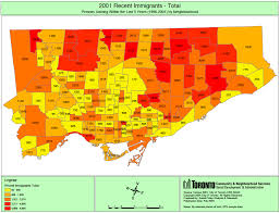 Population Map Of China by Toronto Map Ethnic Populations In Toronto U0027s Four Community