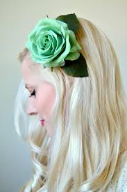 flower hair clip diy hair flower