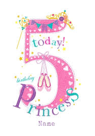abacus five year old birthday card 5 today birthday princess