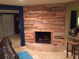 finished my pallet wood fireplace turned out pretty cool used