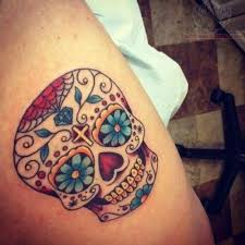 sugar skull buddhist on chest photos pictures and sketches