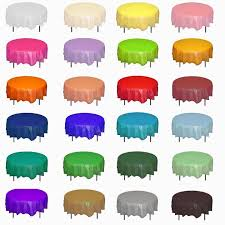 paper table cover with plastic liner round plastic tablecloths