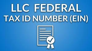 llc federal tax id number ein youtube