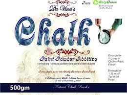Make Textured Paint - chalk powder to make chalk u0026 textured paint finish 500gms and