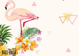 wallpaper with pink flamingos flamingo geometric pineapple wallpaper removable wallpaper