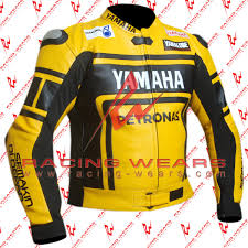 motorcycle racing jacket racing wears yamaha petronas yellow motorbike racing leather