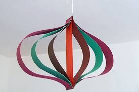 things to make and do curved paper hanging decoration