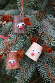toilet roll reindeer ornaments happy hooligans