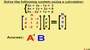 solving a 3x3 system of equations calculator