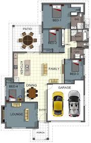 Bathroom And Laundry Room Floor Plans - floor plan house design 4 bedroom 2 bathroom double garage
